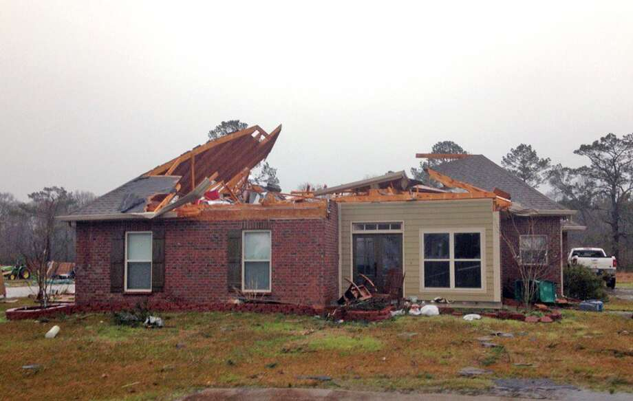 Authorities said severe weather spawned possible twisters and high winds in parts of the Deep South, destroying property like this Livingston, La. house on Tuesday. Two casualties were also reported. Photo: Steve Hardy, MBR / The Advocate