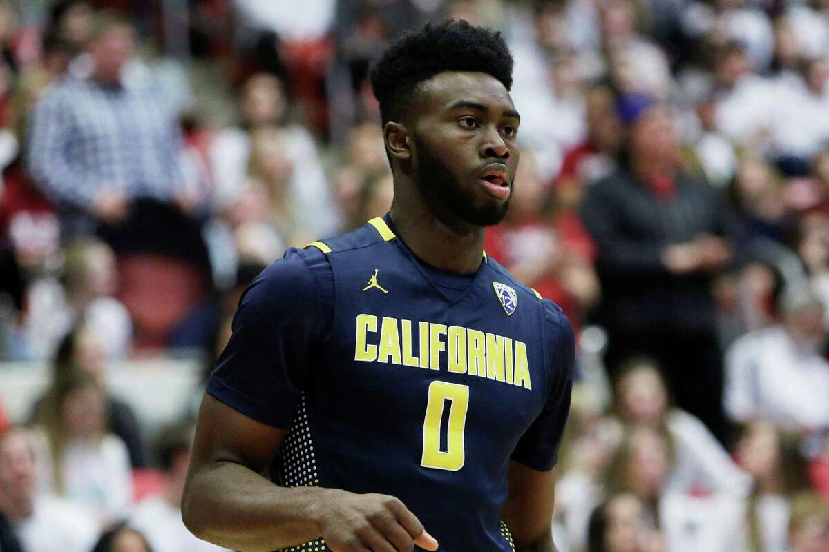 California's Jaylen Brown (0) walks on the court during the first half of an NCAA college basketball game against Washington State, Sunday, Feb. 21, 2016, in Pullman, Wash. (AP Photo/Young Kwak)