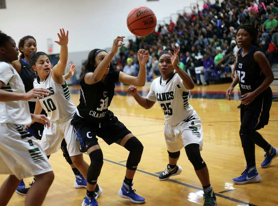 Photos of girls high school basketball quarterfinals between Hightower and Clear Springs on Tuesday, Feb. 23, 2016, in Manvel. Clear Springs won the game 76-48. Photo: Elizabeth Conley, Houston Chronicle / © 2016 Houston Chronicle