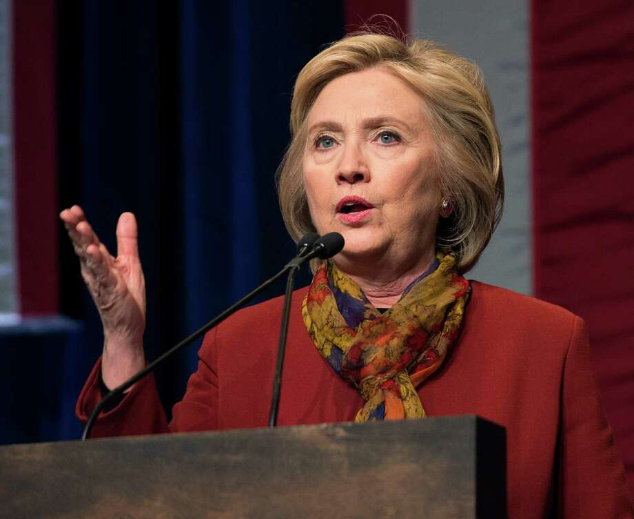 "FILE - In this Feb. 16, 2016 file photo, Democratic presidential candidate Hillary Clinton speaks in New York. A federal judge could allow a conservative legal group to question top aides to former Secretary of State Hillary Clinton about whether she deliberately sought to subvert open records laws by using a private email server. U.S. District Court Judge Emmet G. Sullivan ruled Feb. 23 that Judicial Watch can prepare a plan for ""narrowly tailored discovery"" into the circumstances surrounding the Democratic presidential candidate's use of a home-based email server during her four-year stint as the nation's top diplomat.  (AP Photo/Bryan R. Smith, File) Photo: Bryan R. Smith, FRE / FR171336 AP"