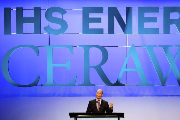 BP Deputy Group Chief Executive Lamar McKay speaks at an Upstream Plenary discussion during the second day of IHS CERAWeek at the Hilton Americas Tuesday, Feb. 23, 2016. ( Michael Ciaglo / Houston Chronicle )