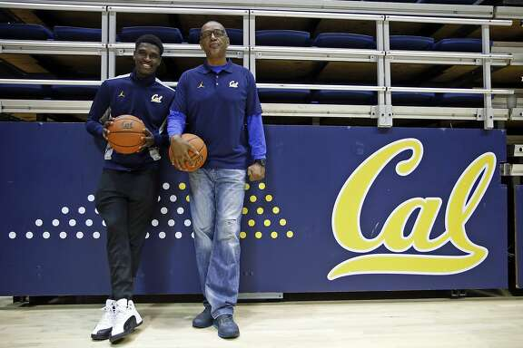 University of California basketball player Jabari Biord and his father, Carl, at Haas Pavilion in Berkeley, Calif., on Tuesday, February 23, 2016.