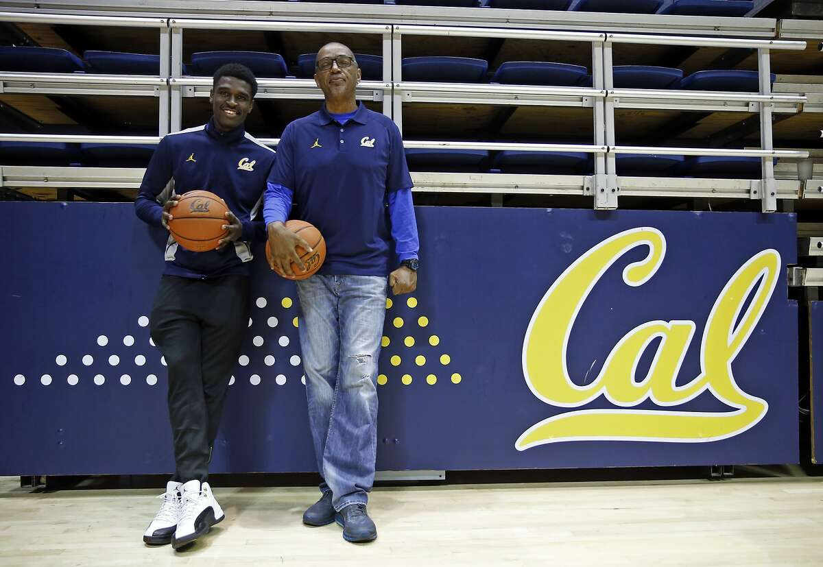 University of California basketball player Jabari Bird and his father, Carl, at Haas Pavilion in Berkeley, Calif., on Tuesday, February 23, 2016.