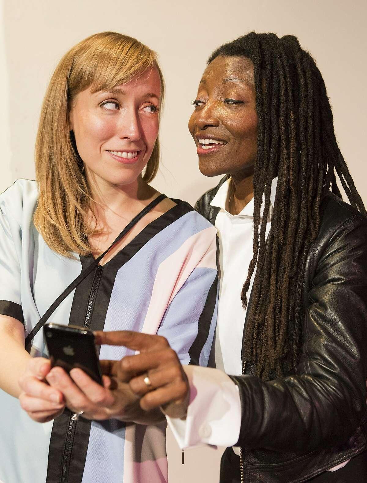 Melissa Keith, left, as Annie and Nkechi Emeruwa as Rebecca in