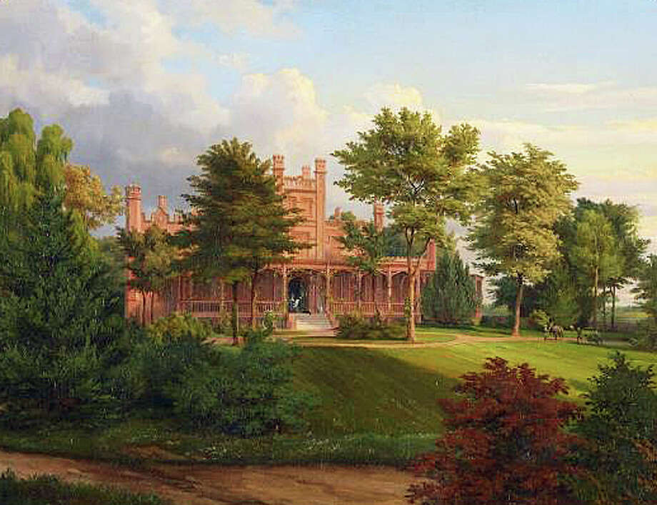 "This painting depicts ""Hokanum,"" a 600-acre Westport estate in the mid-19th Century, which will be the topic of a March 6 program at the Westport Historical Society. Photo: Contributed Photo / Contributed Photo / Westport News"