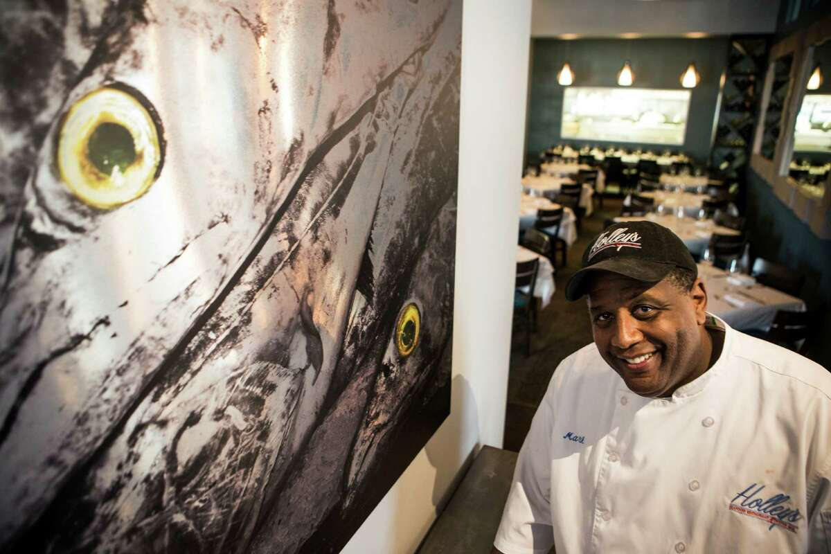 Mark Holley, executive chef, poses for a portrait at Holley's Seafood Restaurant & Oyster Bar.