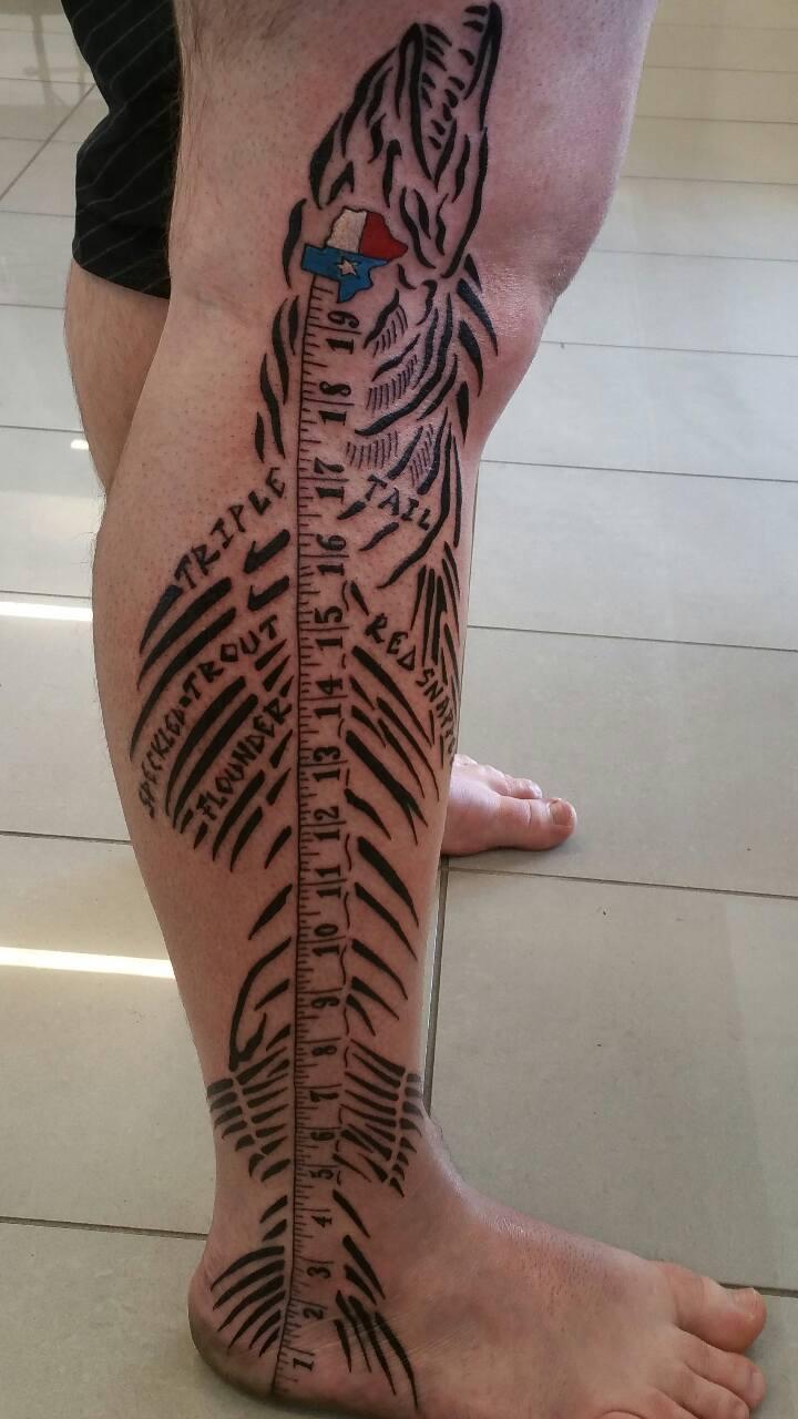 Houston Fisherman Gets Awesome Leg Tattoo San Antonio