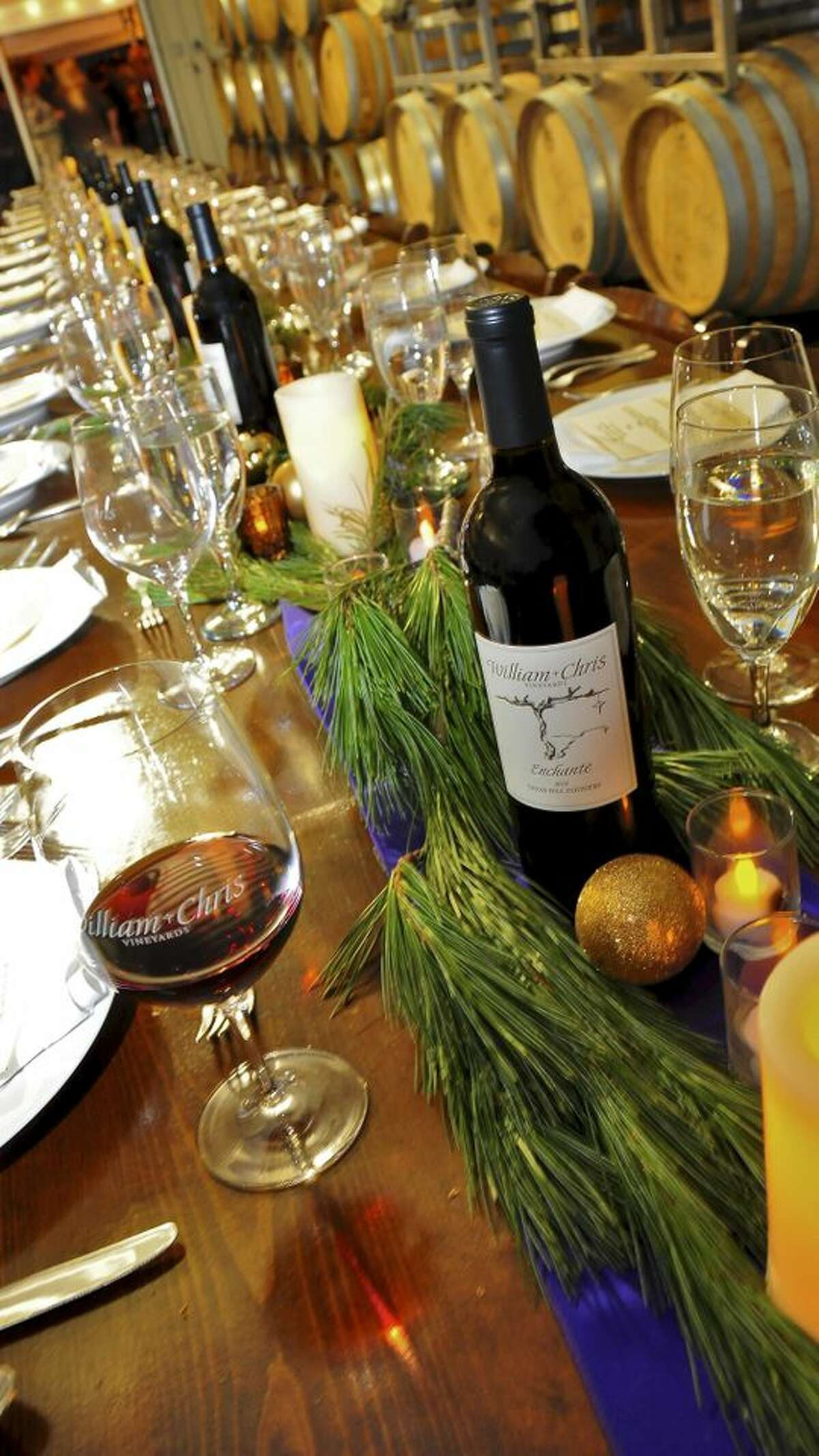 William Chris Winery is one of many in the Hill Country that helps visitors get in the holiday spirit with special events.