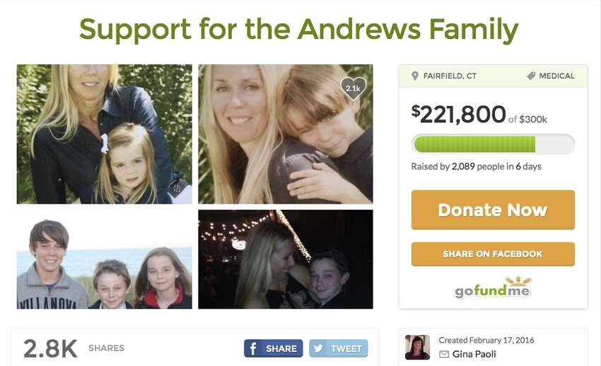 Support for the Andrews family Total sought: $300,000Overview: Financial support for the victims of a domestic violence incident in Fairfield.GoFundMe Page
