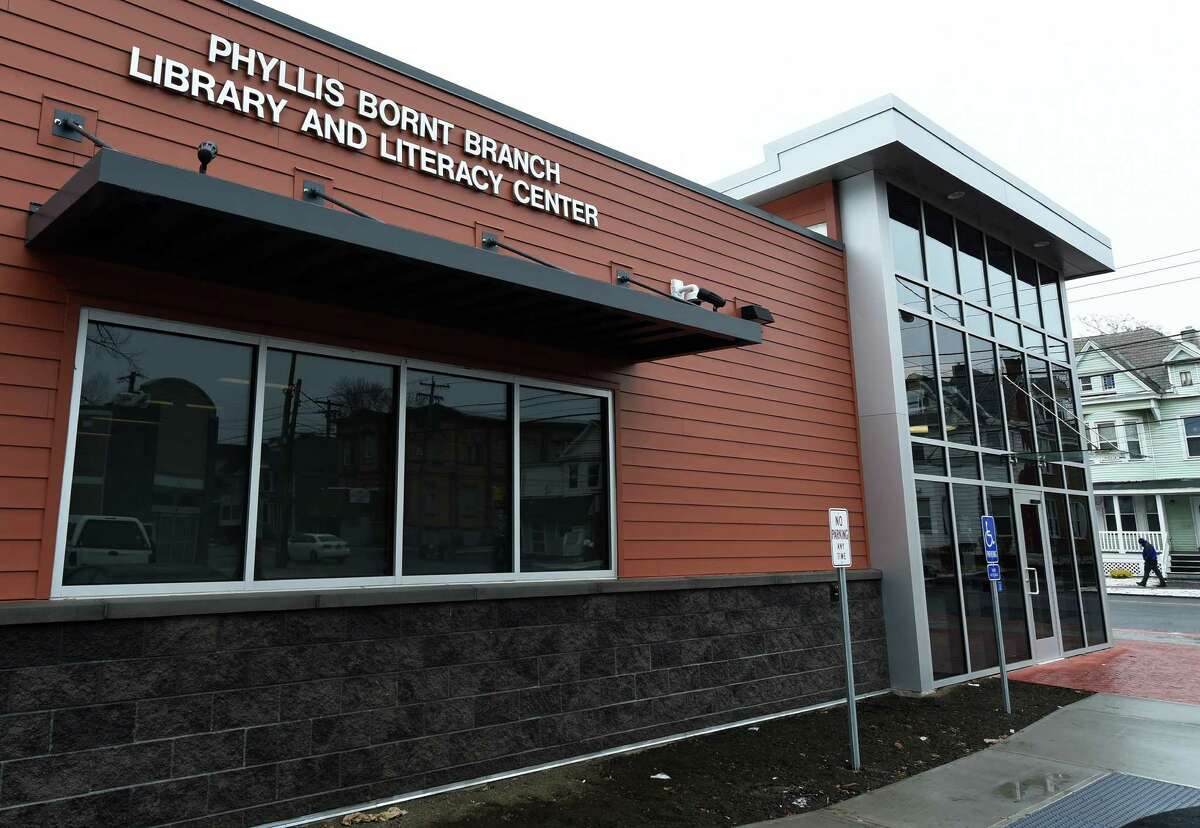 Exterior view of the Phyllis Bornt Branch Library & Literacy Center of the Schenectady County Public Wednesday morning, Feb. 24, 2016, in Schenectady, N.Y. The new branch of the SCPL will have its official opening ceremony at noon on Saturday. (Skip Dickstein/Times Union)