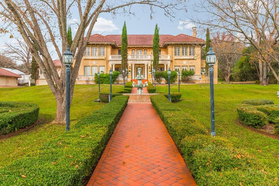Located on the highly sought after Belvin Street Historic District in San Marcos, this estate includes a 6,896-square-foot home, a three-car garage and renaissance revival architecture. It was built by renowned architect Altee B. Ayers, who also built the McNay Art Museum. Photo: Courtesy, Ryan Baldridge