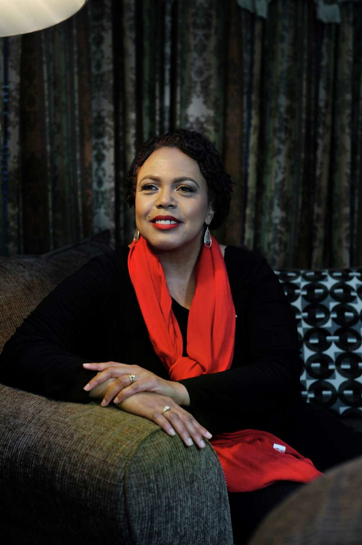 Barbara Howard poses for a photo at her home on Monday, Feb. 8, 2016, in Albany, N.Y. Howard, an actress and singer, is co-coordinating this year's Gospel Gala at the Palace. (Paul Buckowski / Times Union)