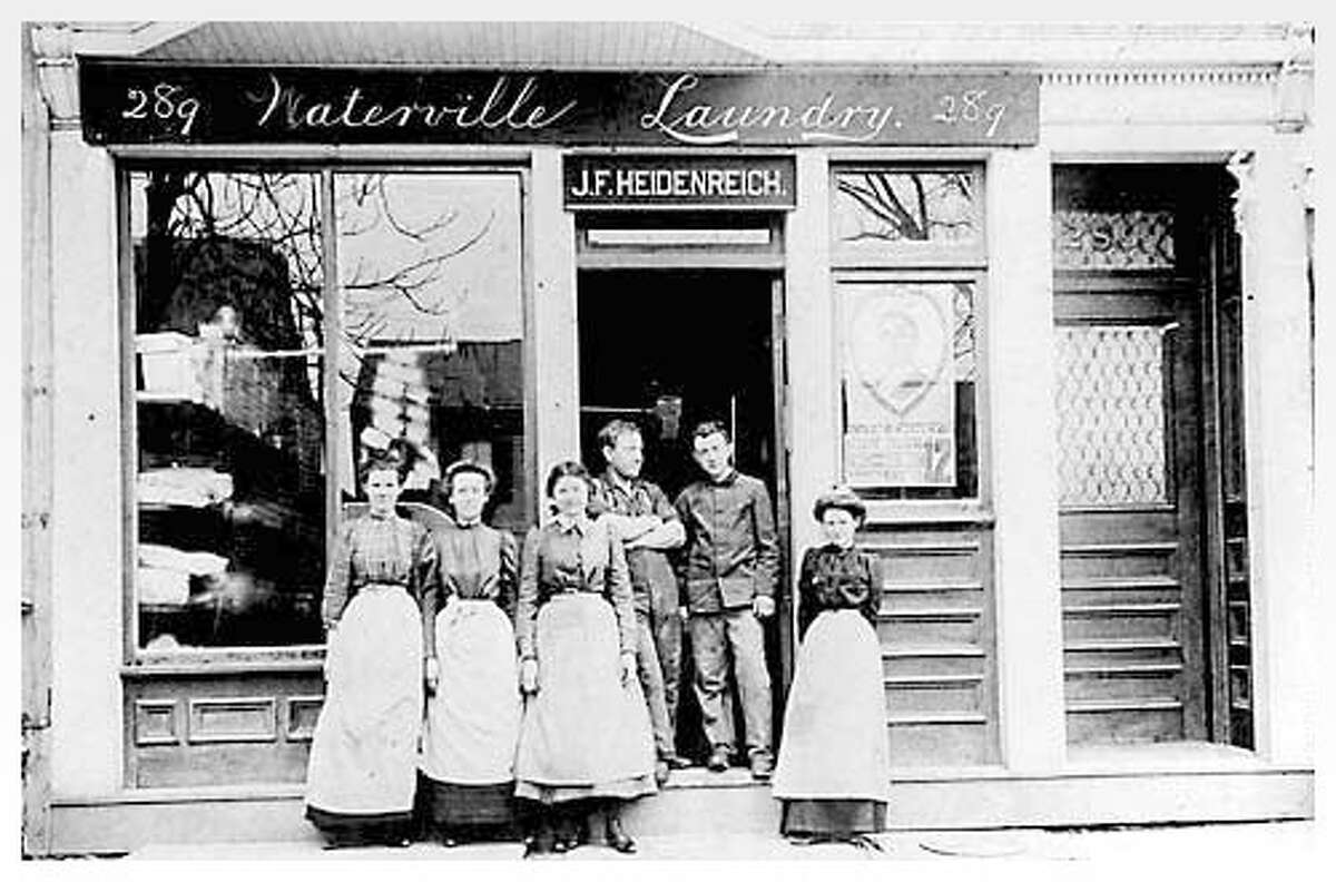 J.F. Heidenreich's Waterville Laundry, 289 Central Avenue, c. 1900. Photo courtesy Albany Institute of History & Art.