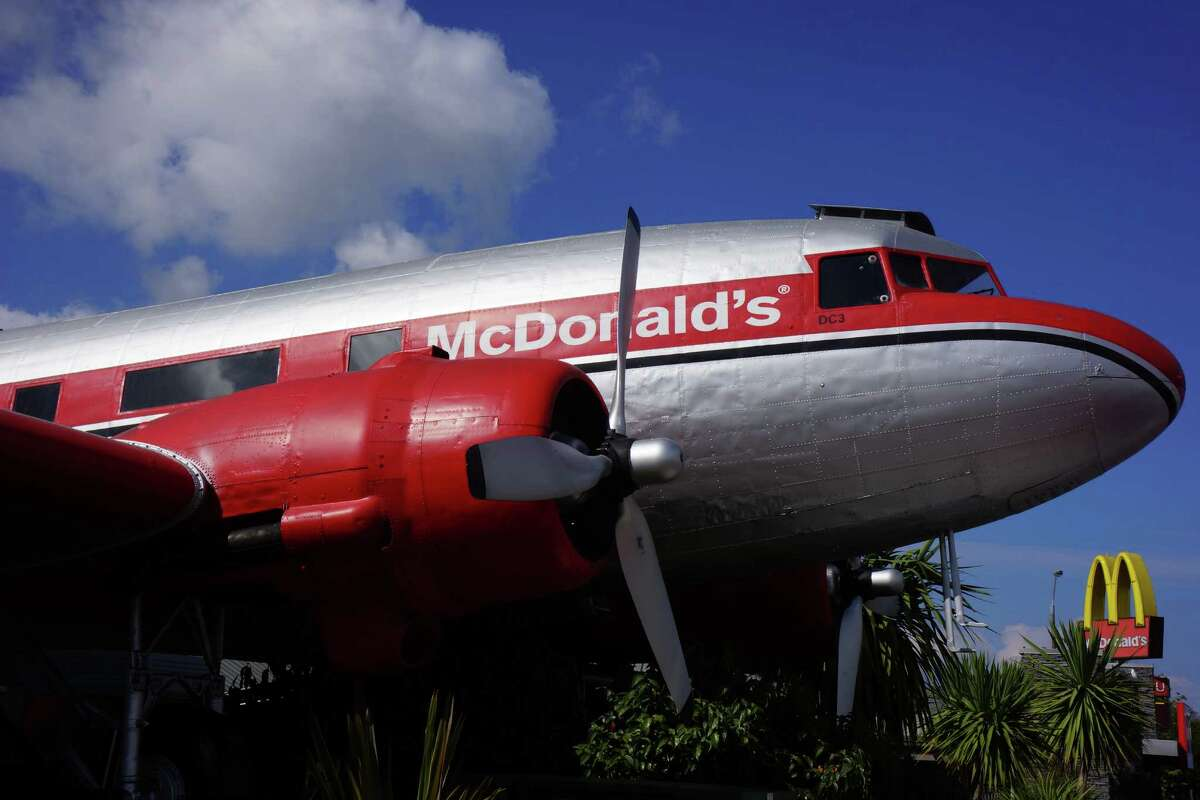 Click through this gallery for some of the coolest McDonald's outposts in the world. Taupo, New Zealand This McDonald's is the only location in the world that's built inside a decommissioned DC3 airplane. Diners can visit the cockpit too.
