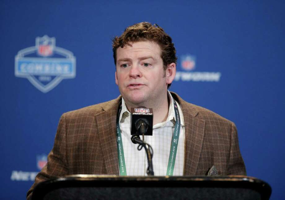 Seattle Seahawks general manager John Schneider responds to a question during a news conference at the NFL football scouting combine Wednesday, Feb. 24, 2016, in Indianapolis. Photo: Darron Cummings, Associated Press / AP