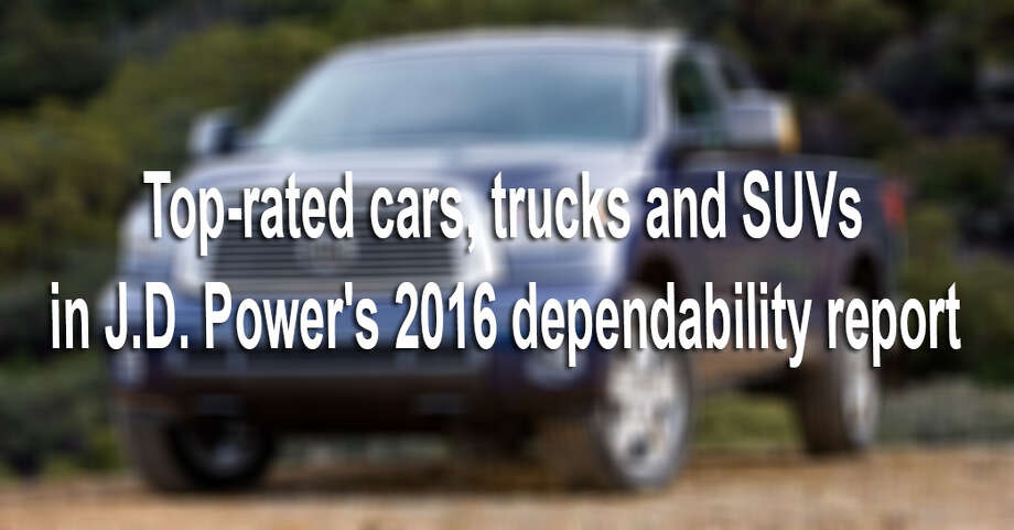 "J.D. Power's latest U.S. vehicle dependability study is out. Here are the cars, trucks and SUVs that made the ""most dependable"" list. Photo: File"