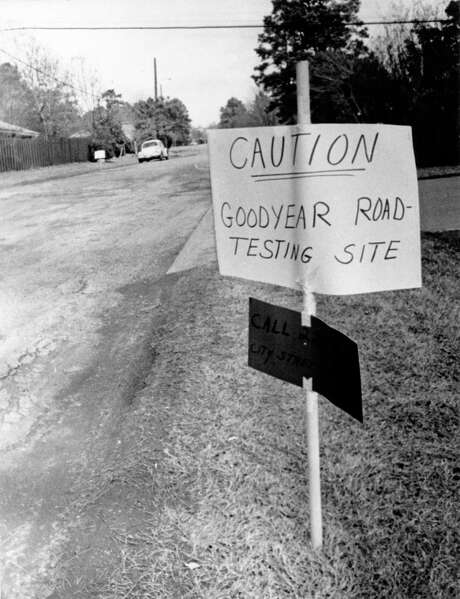Even in the 1970s, when this photo was taken, cars took a beating from pockmarked roads. However, Houston faces bigger problems than potholes. Photo: HP Staff / Houston Post files