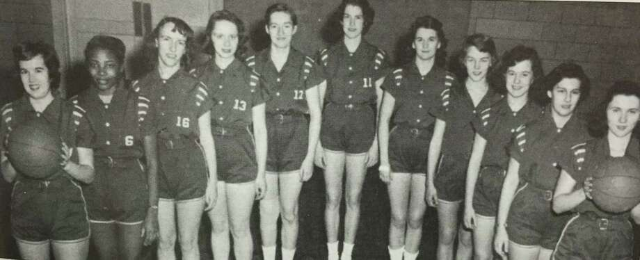 "Flashback: girls' basketball Sports are for everyone. Back in 1956, the New Milford girls' basketball team had a good run, ending its season with a 39-37 win over Litchfield. The team consisted of, from left to right, Susan Weatherly, Juanita Johnson, Loretta Young, Jeanette Ocif, Rose Ann Blair, Carole Knittle, Judy Stoddard, Marion Crowley, Janet Warner, June Steck and Ilona Csutoras. If you have a ""Flashback"" photograph you'd like to share, contact Deborah Rose at drose@newmilford.com or call 860-355-7324. Photo: Courtesy Of ""Images Of America: New Milford Revisited"" / The News-Times Contributed"