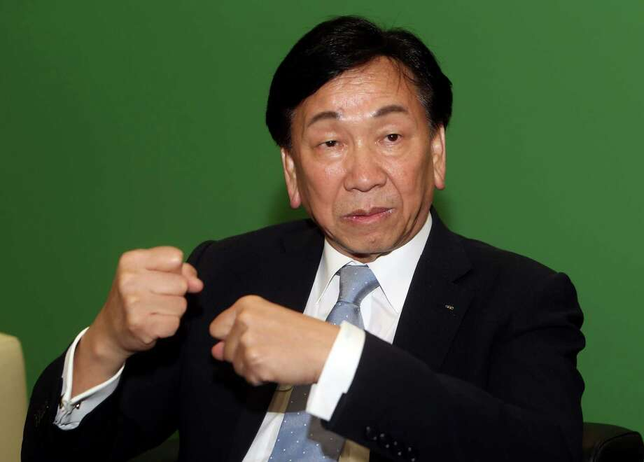 "Ching-Kuo Wu, president of the International Boxing Association, speaks during a press briefing in the Qatari capital Doha on October 4, 2015, on the eve of the AIBA World Boxing Championships. Wu, speaking in Doha on the eve of the 10-day competition, said it was now ""impossible"" for the results of bouts to be manipulated by unscrupulous officials. AFP PHOTO / FAISAL AL-TAMIMIFAISAL AL-TAMIMI/AFP/Getty Images Photo: FAISAL AL-TAMIMI / AFP"
