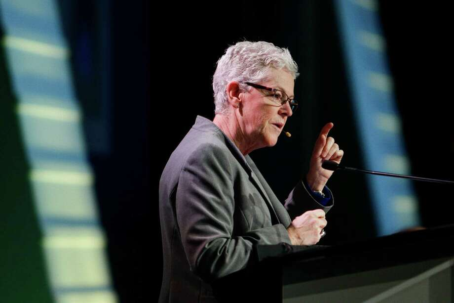 Environmental Protection Agency Administrator Gina McCarthy speaks during the Opening Plenary during the third day of IHS CERAWeek at the Hilton Americas Wednesday, Feb. 24, 2016. ( Michael Ciaglo / Houston Chronicle ) Photo: Michael Ciaglo, Staff / © 2016  Houston Chronicle