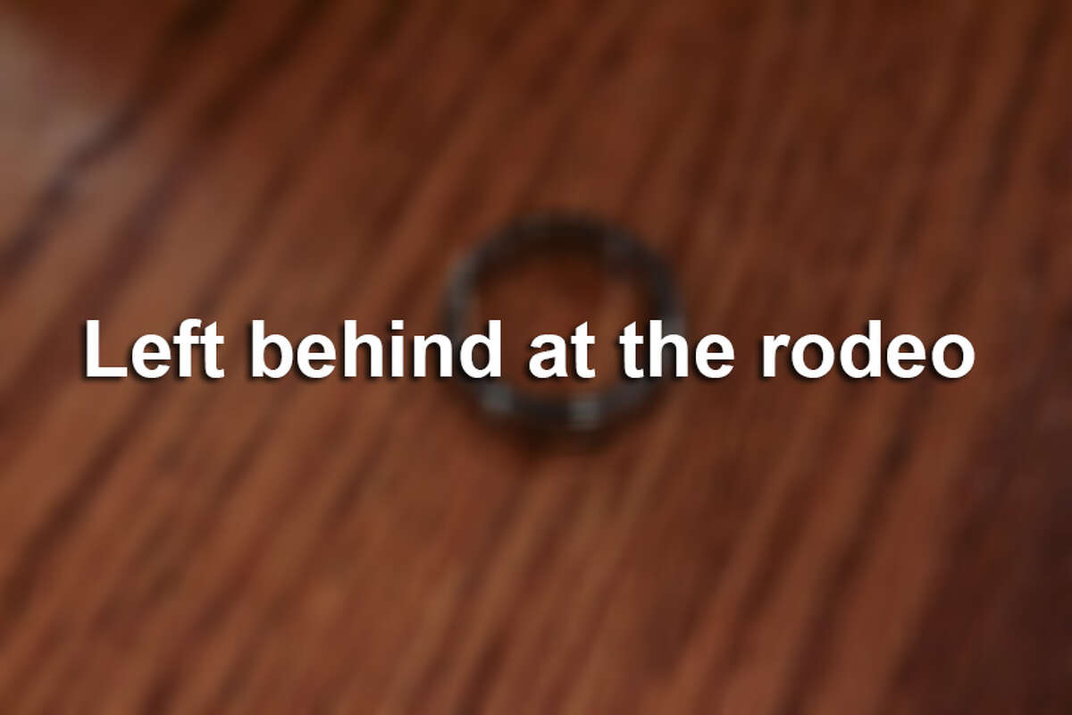 A wedding band was just one of many items lost at the rodeo in 2015.
