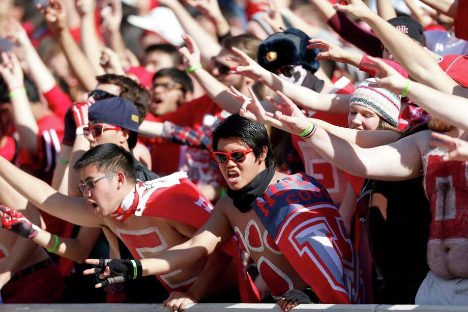 UH wants TDECU Stadium rocking for every game like it was for the American Athletic Conference championship victory over Temple in December. Photo: Karen Warren, Staff / © 2015  Houston Chronicle