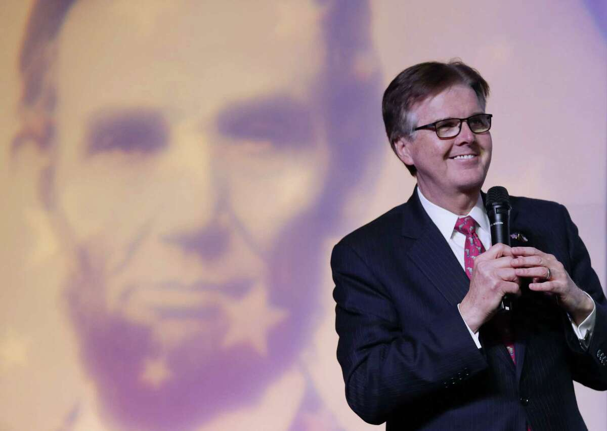 Texas Lt. Gov. Dan Patrick speaks during the Harris County Republican Party 2016 Lincoln Reagan Dinner Wednesday, Feb. 24, 2016, in Houston. Take a closer look at the cities with the highest and lowest LGBT populations.