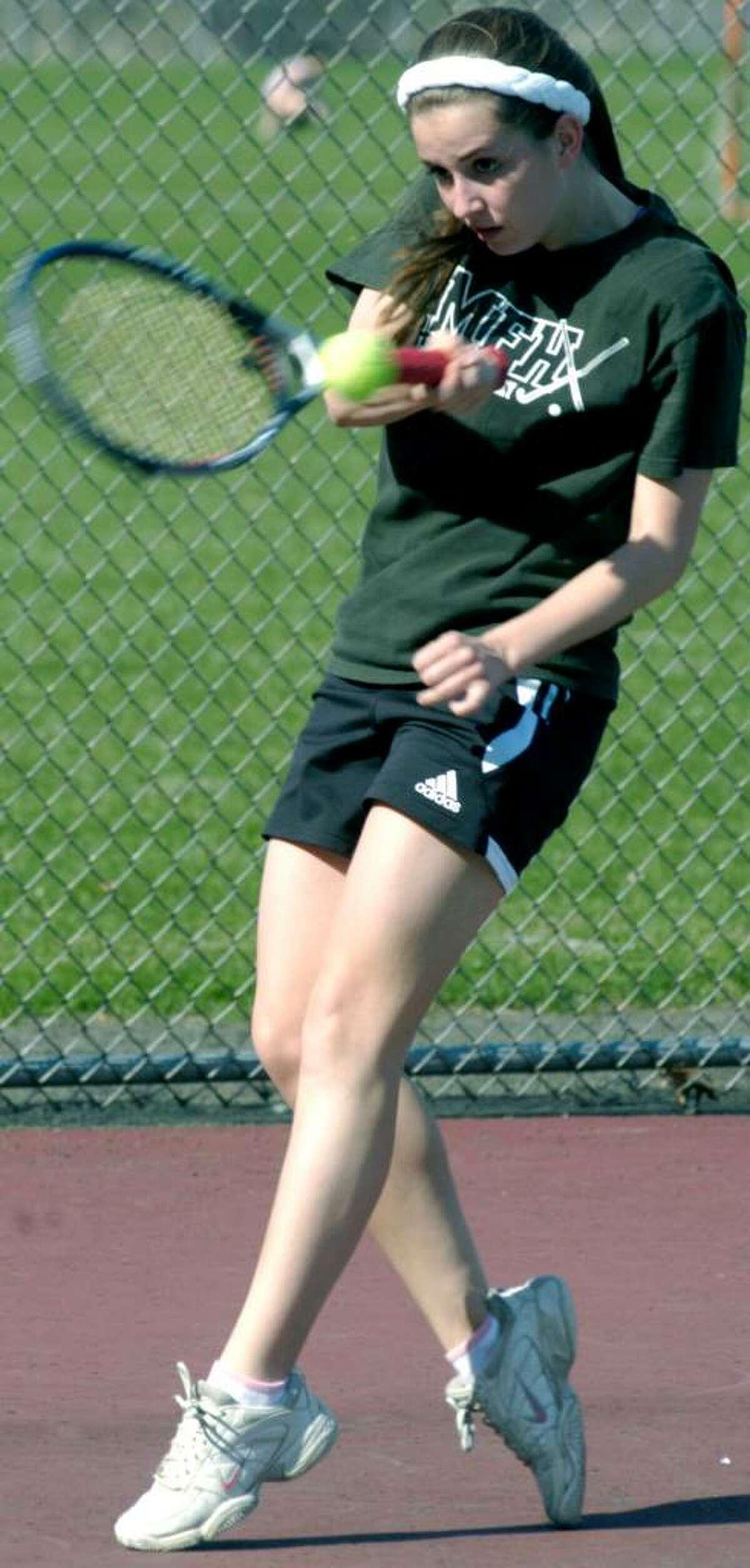 SPECTRUM/New Milford High School girls' tennis Macey Farnsworth April 2010