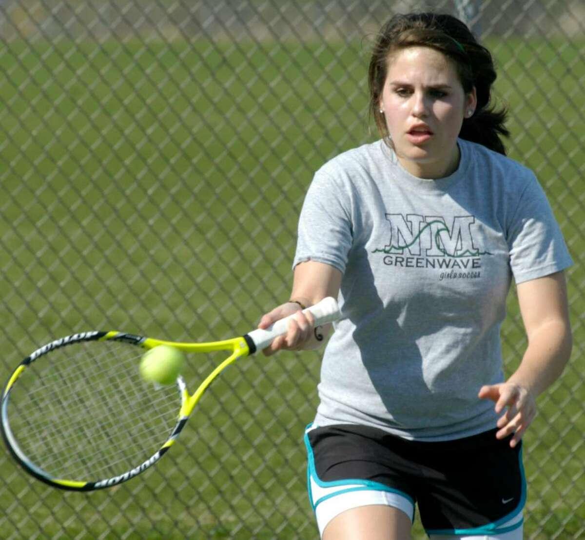 SPECTRUM/New Milford High School girls' tennis Taylor Fitzpatrick April 2010