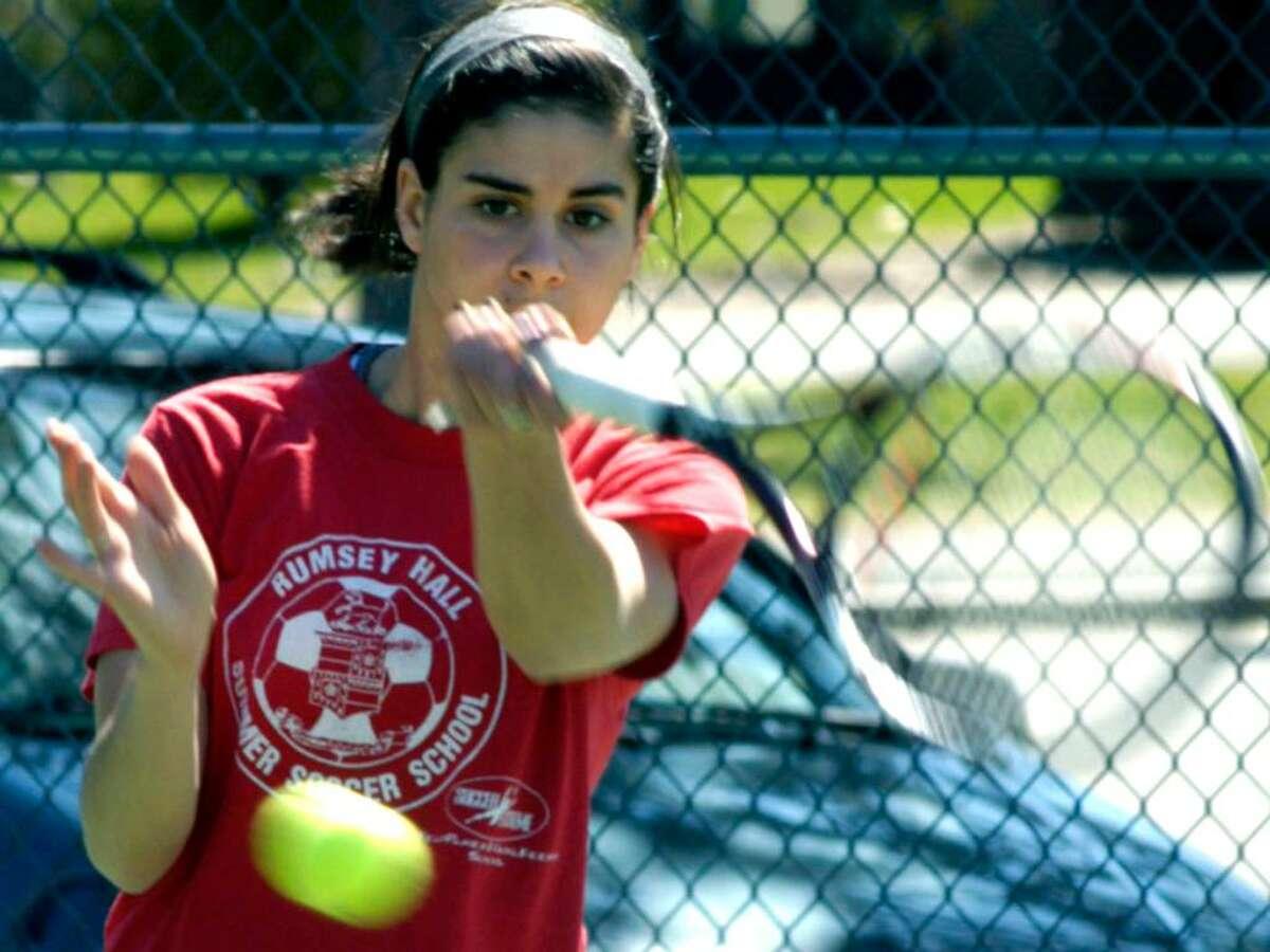 SPECTRUM/Shepaug Valley High School girls' tennis number one Samantha Metcalf, April 2, 2010.
