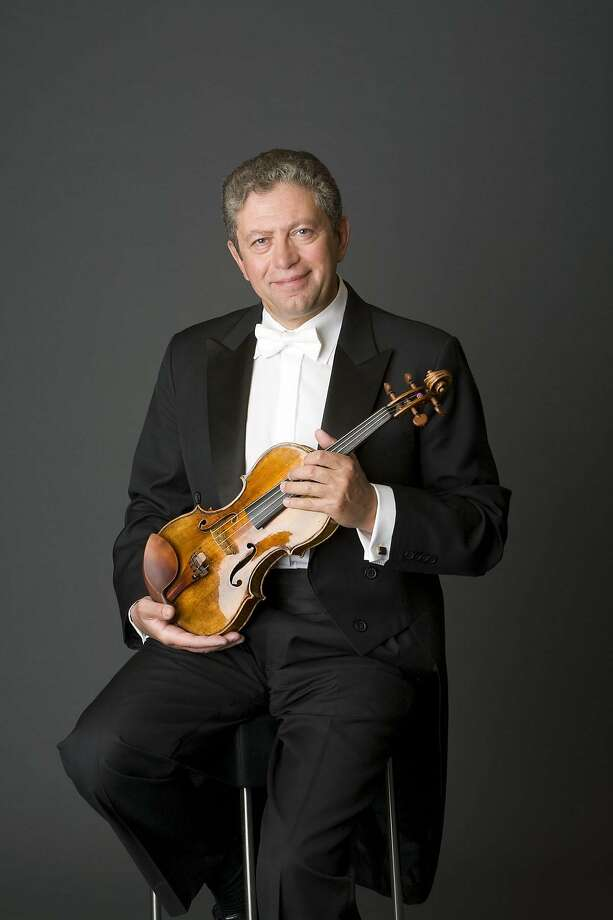 Violinist Alexander Barantschik soloed in an early Mozart concerto. Photo: SF Symphony