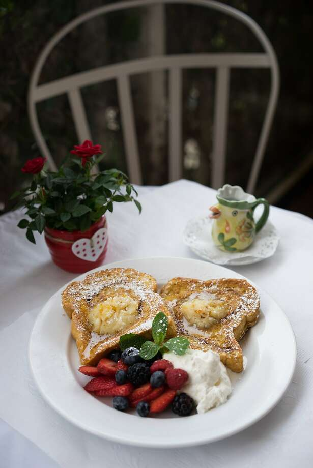 The brioche French toast at the Red House is served with fruit. Photo: James Tensuan, Special To The Chronicle