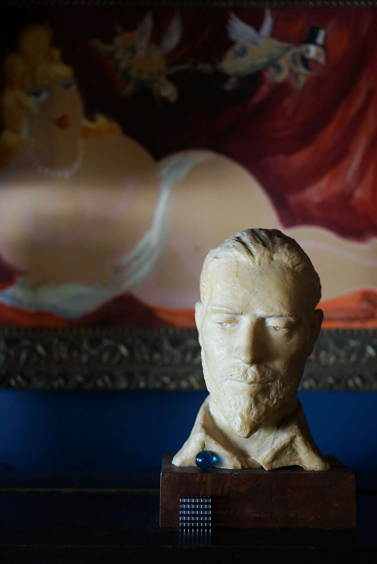 A bust of Doc Ricketts is seen in his lab in Monterey , Calif. on Monday, February 22, 2016. Ricketts' lab is located on Cannery Row.