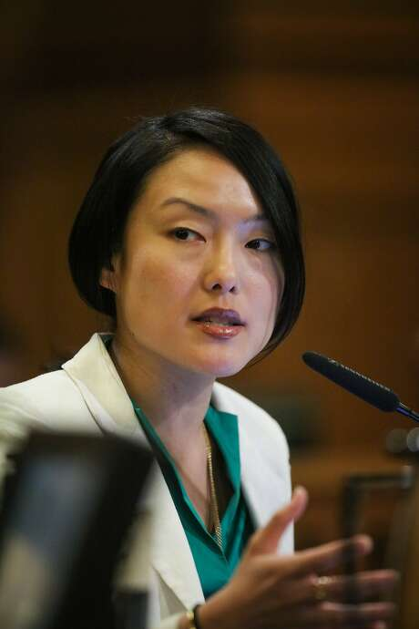 Supervisor Jane Kim discusses her thoughts on budgeting money for city parks during a Board of Supervisors meeting at City Hall, in San Francisco, California on Tuesday, February 23, 2016. Photo: Gabrielle Lurie, Special To The Chronicle