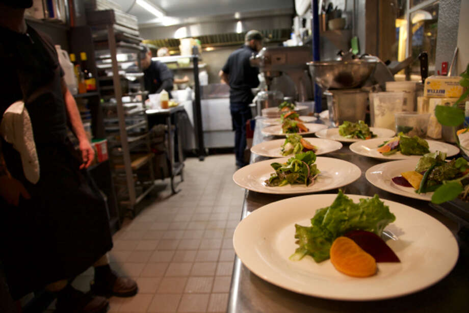 Some of the plated food in the kitchen at Grayze. Photo: Courtesy Photos