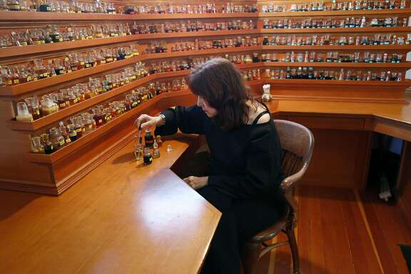 Mandy Aftel creates perfumes from natural essences in Berkeley, Calif. on Tuesday, Feb. 23, 2016.