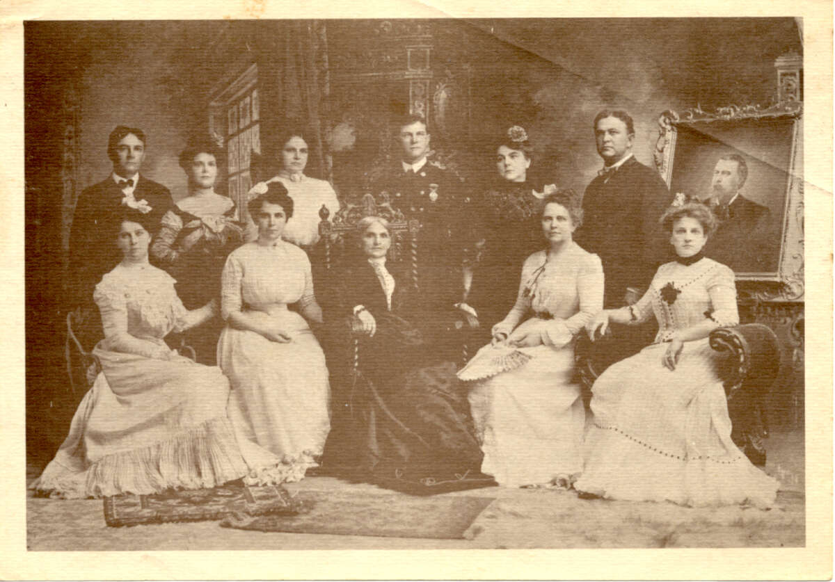 Edgar was the grandson of William Tobin pictured in this family portrait taken around 1902. Standing from left to right is Charles, Agnes, Mary, William, Zelime and John, and sitting from left to right is Lucie, Josephine, Mrs Tobin, Annie and Ella. Edgar, who was born in 1897, was the second owner of the home on 342 Terrell Road, according to Kaye Fraser, the family genealogist and great granddaughter of Zelime.