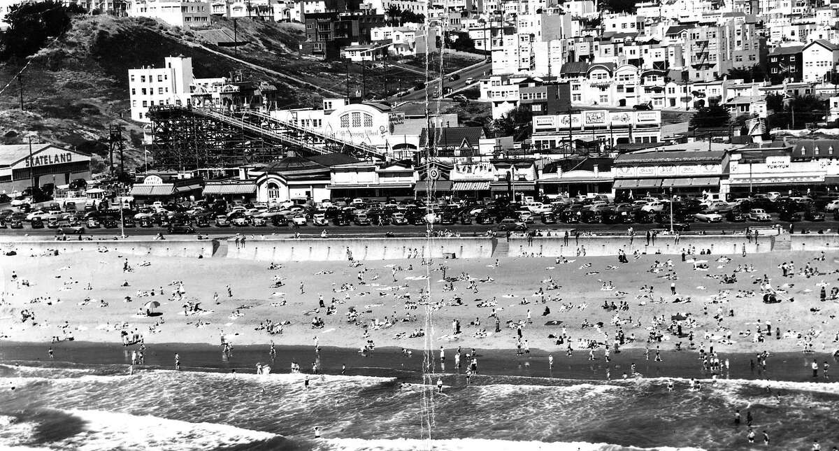 Playland at the Beach , Ocean Beach, San Francisco 1913 to 1972 The only real amusement park in San Francisco hit its heyday in the early 1950s when the park's 14 Midway rides were sprawled across three city blocks. When the city deemed its wooden Big Dipper roller coaster unsafe in 1955 and the beloved ride was torn down, excitement around the park fizzled until it was finally shuttered after Labor Day in 1972. (Photo taken October 23, 1953)