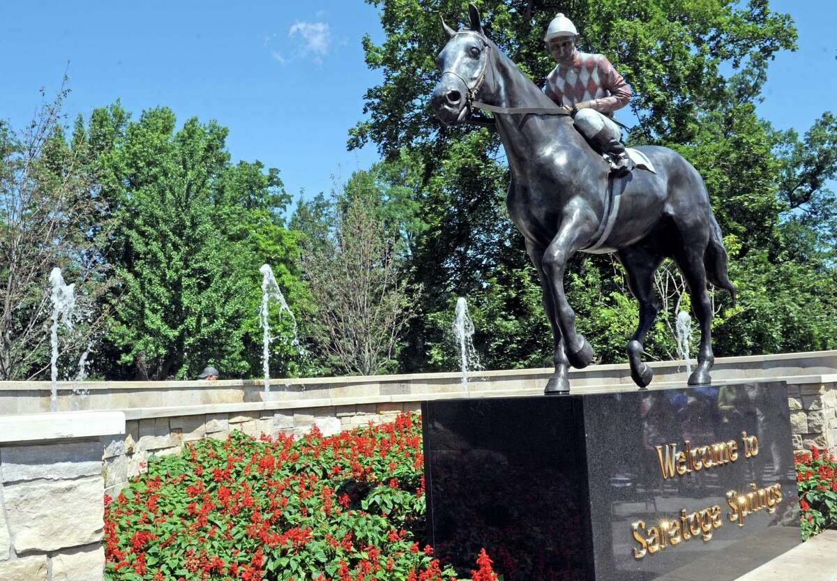 """The """"Native Dancer"""" statuewasunveiled at Congress Park. A local mother said a group of teens beat her daughter in the park. (Michael P. Farrell/Times Union)"""