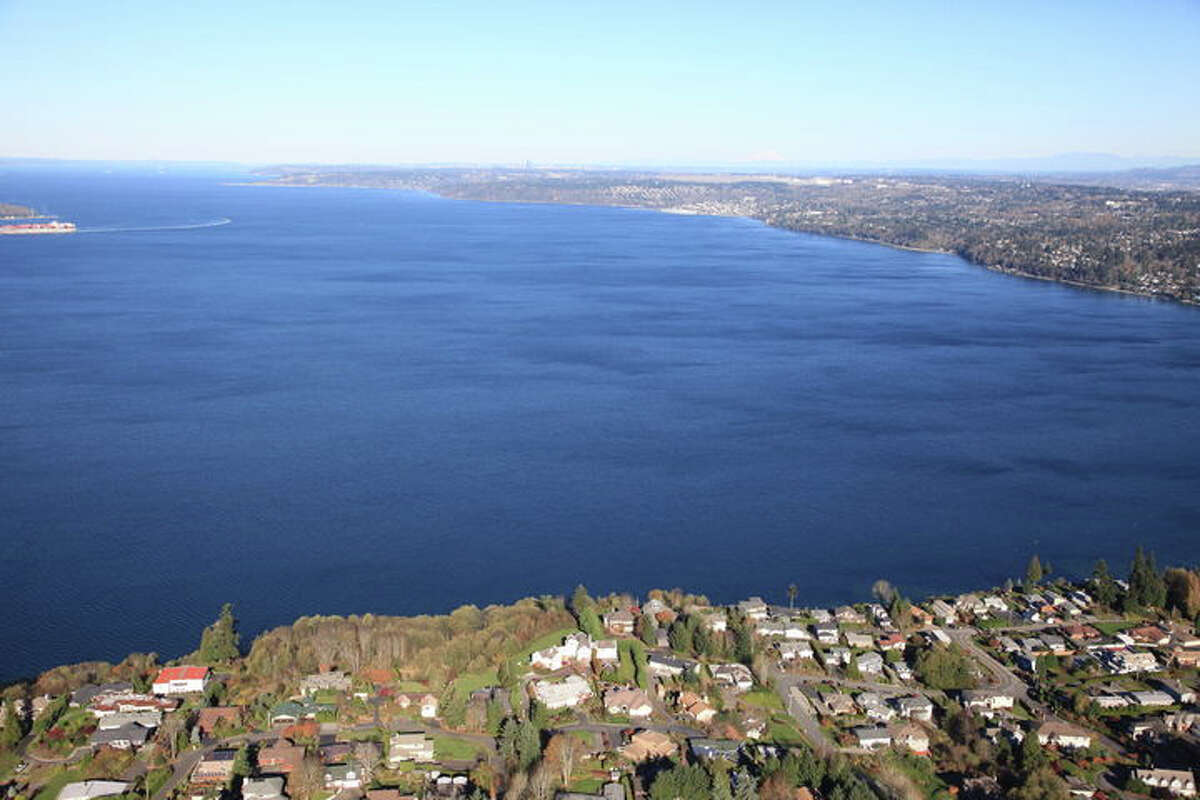 From the home at 832 S.W. 295th St, there is a view of Puget Sound and the Olympics. The home and grounds cover 2.73 acres. It's listed for $2.475 million.