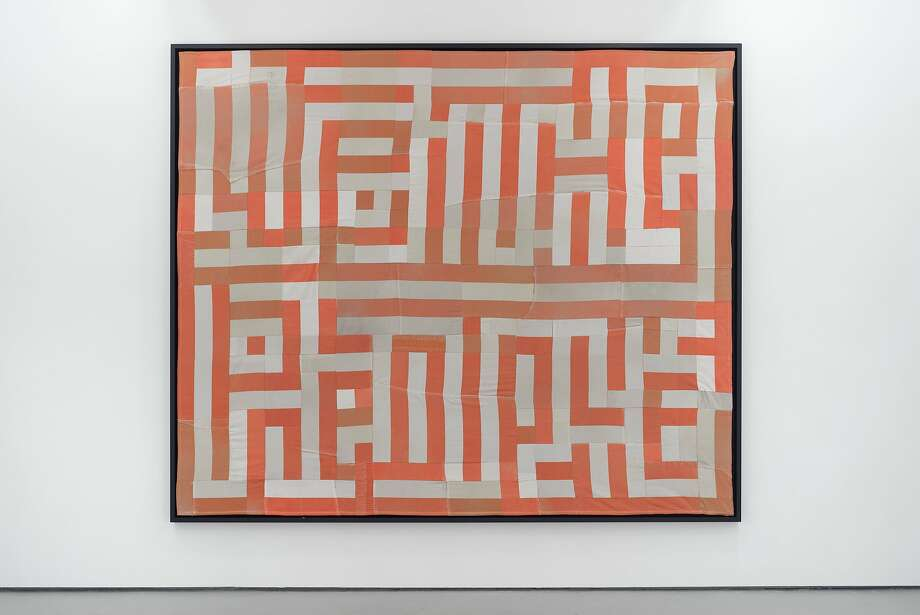 """Artist Hank Willis Thomas created """"We The People"""" (2015), a quilt made out of decommissioned prison uniforms Photo: Courtesy The Artist, Jack Shainman Gallery, New York"""