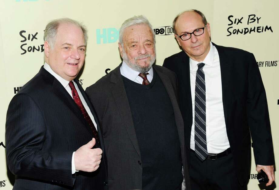 "From left, Executive producer Frank Rich, composer and lyricist Stephen Sondheim and director James Lapine attend the premiere of HBO's ""Six By Sondheim"" at the Museum of Modern Art on Monday, Nov. 18, 2013 in New York. Lincoln Center Theater and Jujamcyn Theaters said Thursday they will bring the William Finn and James Lapine's Tony-winning musical to the Walter Kerr Theatre in September 2016.(Photo by Evan Agostini/Invision/AP) ORG XMIT: NY114 Photo: Evan Agostini / Invision"