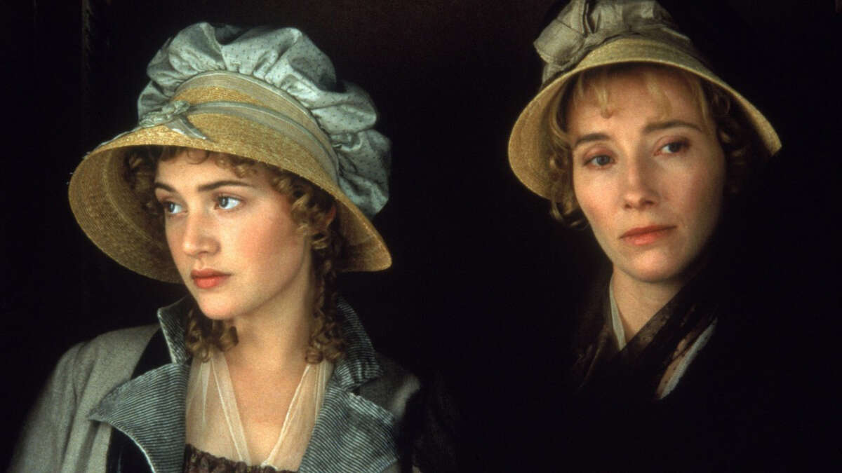 """Kate Winslet, left, and Emma Thompson in """"Sense and Sensibility."""" No stranger to literary adaptations, Academy Award-winning actress Thompson wrote her own version of the Jane Austen novel, nabbing a second Oscar, and becoming the only woman to win in both actress and screenplay categories. (Columbia Pictures)"""