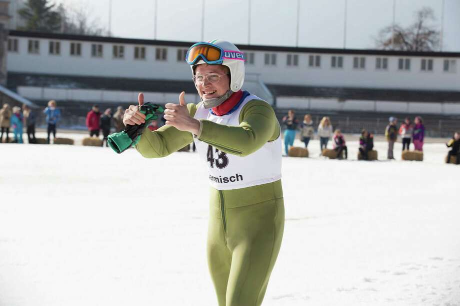 """This image released by 20th Century Fox, Taron Egerton portrays Eddie Edwards in a scene from """"Eddie the Eagle."""" (Larry Horricks/20th Century Fox via AP) ORG XMIT: NYET235 Photo: Larry Horricks / 20th Century Fox"""
