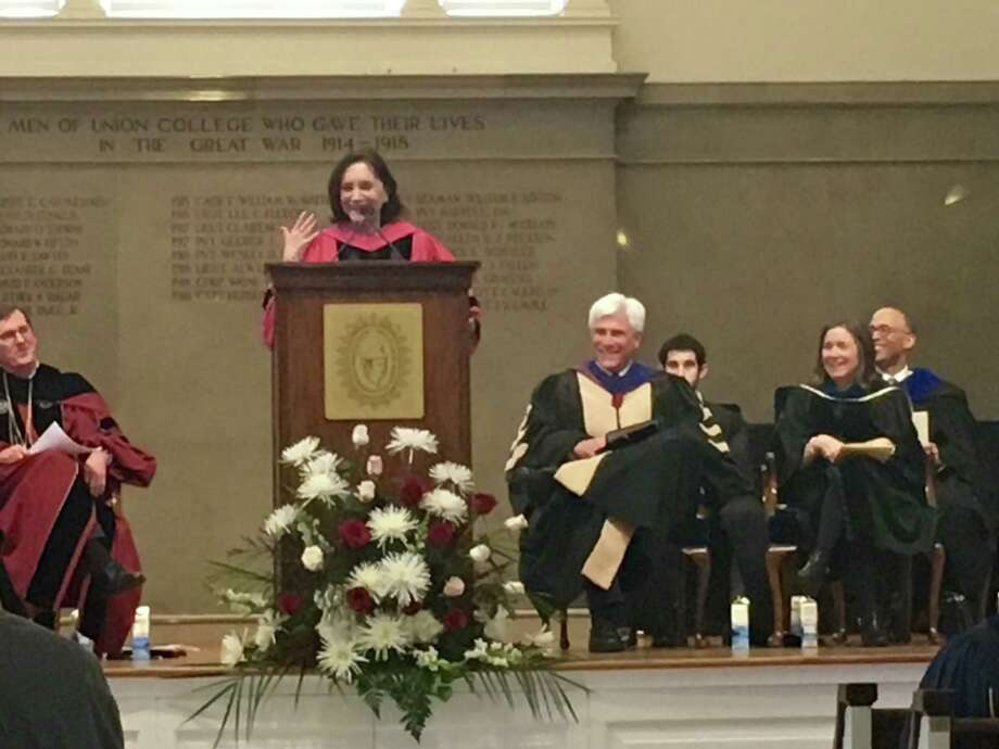 Sherry Turkle of the Massachusetts Institute of Technology spoke at Union College's founder's day.