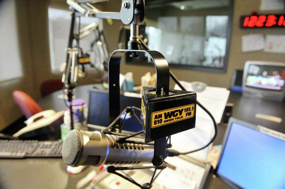 A view of the talk studio inside the WGY studios on Thursday, Feb. 25, 2016, in Latham, N.Y. (Paul Buckowski / Times Union)