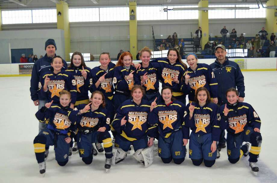 The Mid Fairfield Stars' girls 12-under team won the Connecticut State Tier 1 Girls Hockey Tournament in Shelton last weekend. Photo: Contributed Photo / Greenwich Time Contributed