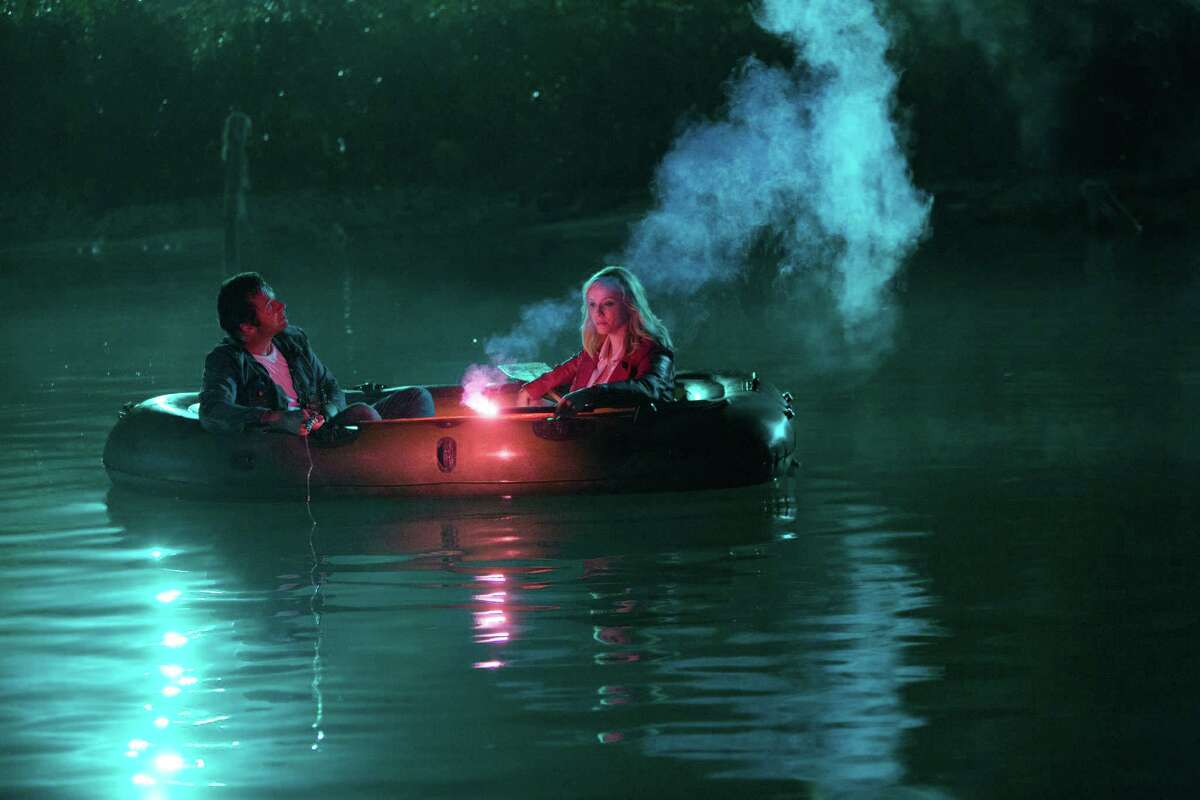 Trudy (Christina Hendricks) and Hap (James Purefoy) take to the water to find some stolen loot but get a shock they hadn't bargained for.