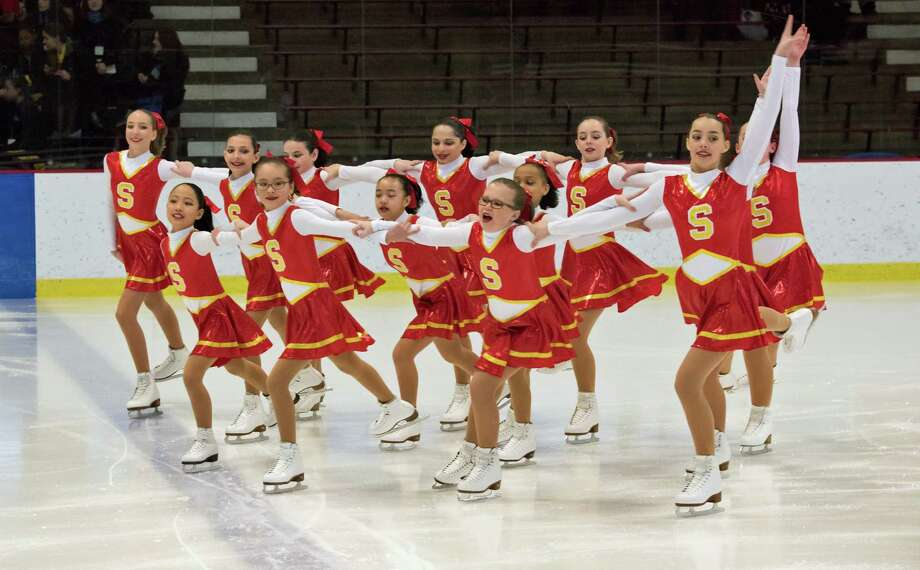 The Skyliners' pre-juvenile line won a gold medal at the Connecticut Synchronized Skating Classic in Middletown recently. Photo: Contributed Photo / Greenwich Time Contributed