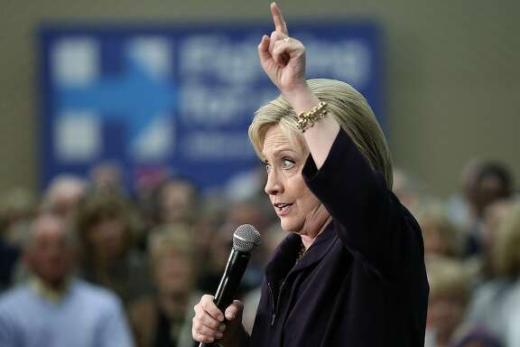MYRTLE BEACH, SC - FEBRUARY 25:  U.S. Democratic presidential candidate Hillary Clinton speaks at a rally February 25, 2016 in Myrtle Beach, South Carolina. The Democratic primary in South Carolina is Saturday.  (Photo by Win McNamee/Getty Images)